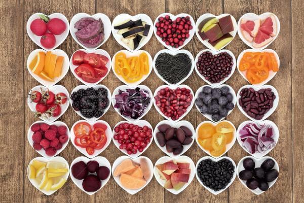 Egészséges étrend étel szuper egészség promótál szív Stock fotó © marilyna