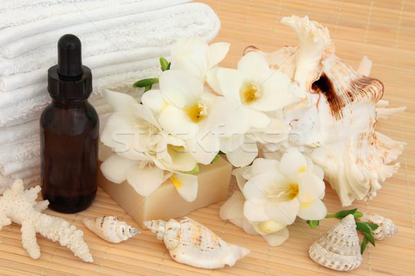 Zuiverheid spa aromatherapie bloem bloesem Stockfoto © marilyna