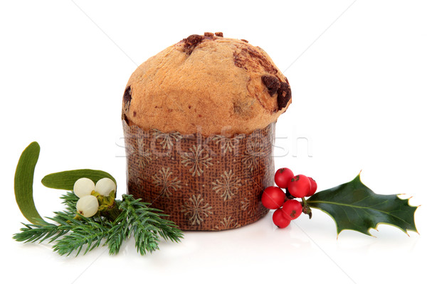 Panettone Christmas Cake Stock photo © marilyna