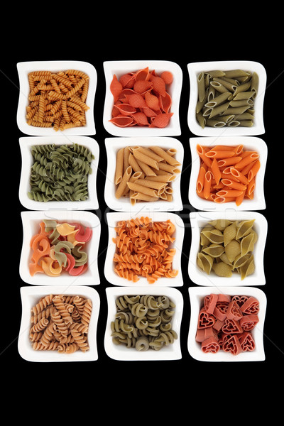 Coloured Italian Pasta Collection Stock photo © marilyna