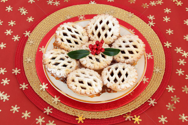 Latticed Mince Pies Stock photo © marilyna