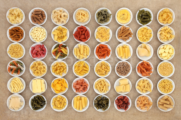 Dried Food Pasta Sampler Stock photo © marilyna