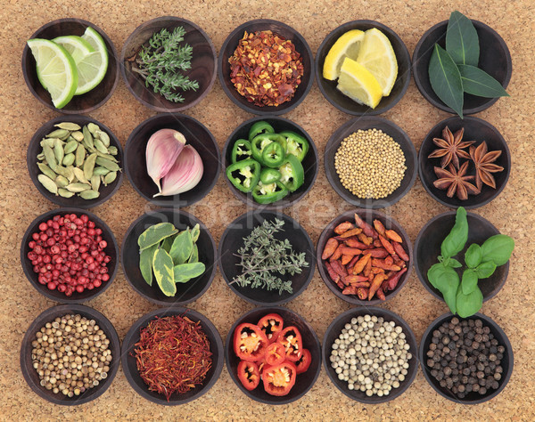 Food Seasoning Sampler Stock photo © marilyna