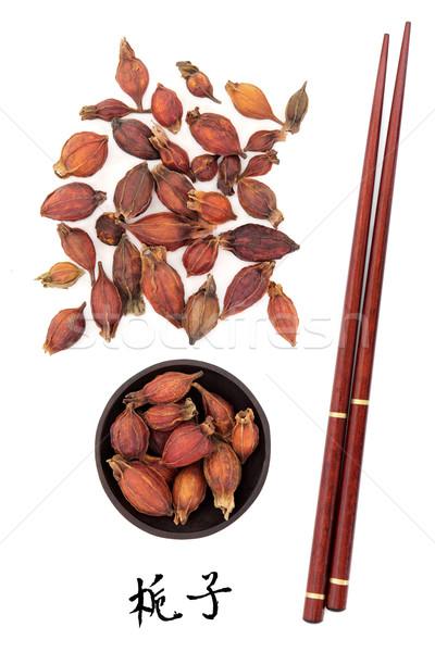 Owoców używany chińczyk mandarynka tytuł Zdjęcia stock © marilyna