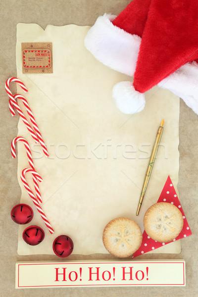 Ho Ho Ho Santas Coming Stock photo © marilyna