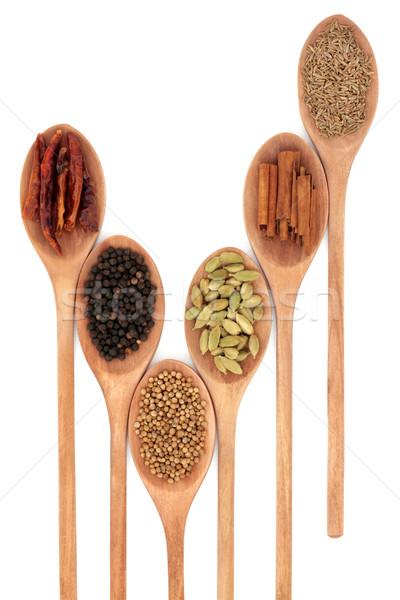 Tempero mistura pimenta pimenta em grão coentro semente Foto stock © marilyna