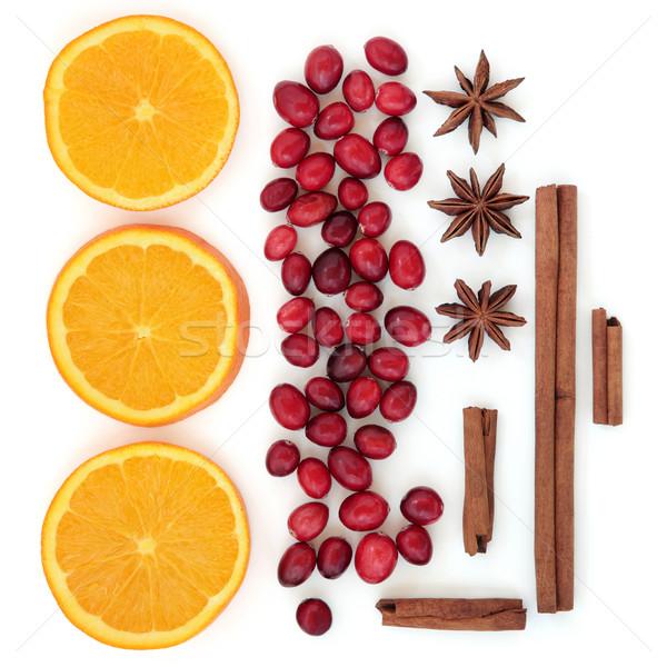 Laranja temperos fruto de laranja estrela anis Foto stock © marilyna