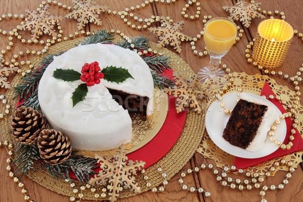 Christmas Cake and Egg Nog Stock photo © marilyna
