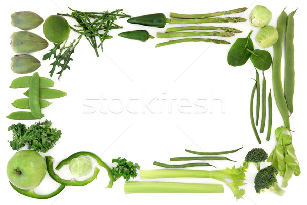 Green Food Abstract Border Stock photo © marilyna