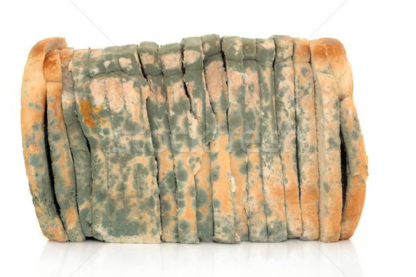 Penészes szeletel kenyér cipó fehér szelet Stock fotó © marilyna