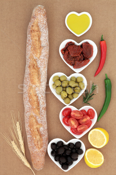 French Baguette with Antipasti Stock photo © marilyna
