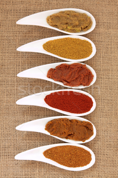 Curry Powder and Paste Stock photo © marilyna