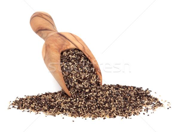 黒コショウ オリーブ 木材 スクープ 白 食品 ストックフォト © marilyna