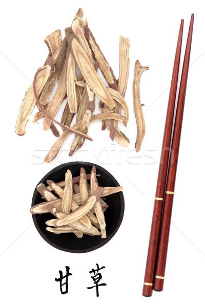 Foto stock: Raiz · chinês · mandarim · título · escrita