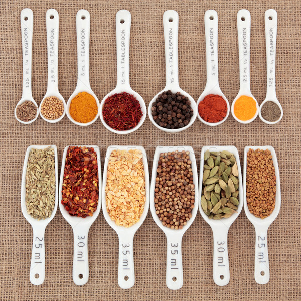 Stock photo: Herb and Spice Measurement