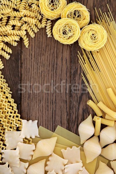 Pasta Background Border Stock photo © marilyna