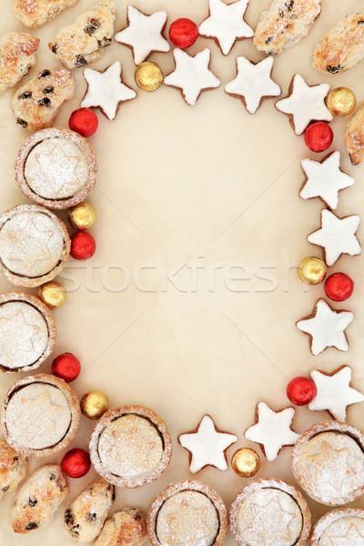 Stok fotoğraf: Noel · tatlı · sınır · zencefilli · çörek · bisküvi