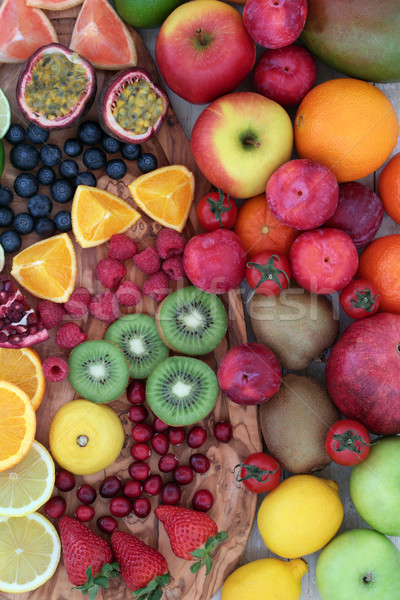 Delicious Fresh Fruit Selection Stock photo © marilyna