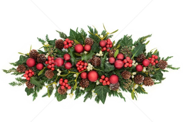Christmas Decoration with Red Baubles Stock photo © marilyna