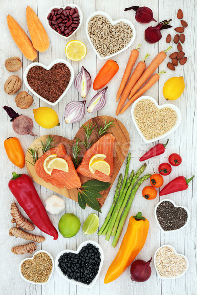 Health Food for Heart Fitness Stock photo © marilyna