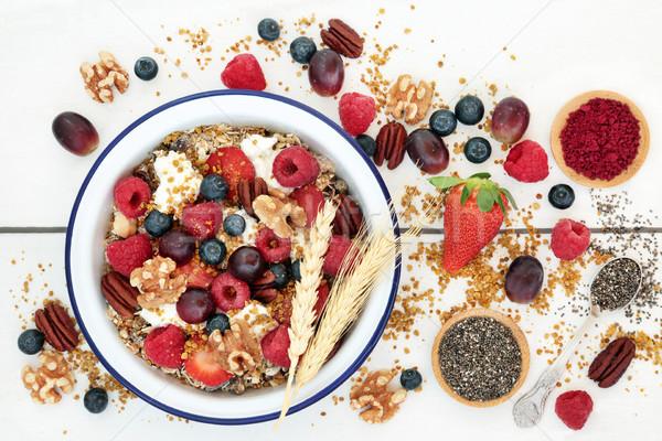 домашний здорового завтрак супер продовольствие гранола Сток-фото © marilyna