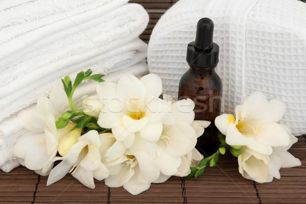 Aromaterapi terapi çiçek spa Stok fotoğraf © marilyna
