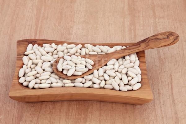 бобов боб сушат продовольствие ингредиент оливкового Сток-фото © marilyna