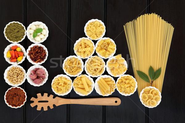 健康 地中海料理 イタリア語 パスタ 材料 ストックフォト © marilyna
