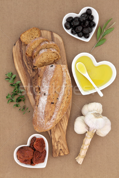 Tomato and Olive Rustic Bread Stock photo © marilyna