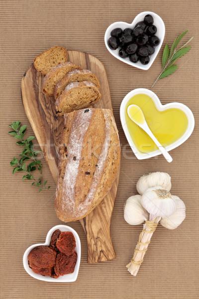 Stock photo: Tomato and Olive Rustic Bread