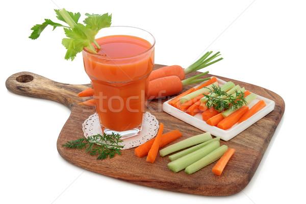 Cenoura aipo saúde beber legumes Foto stock © marilyna