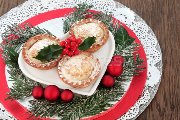 Traditional Christmas Mince Pies Stock photo © marilyna