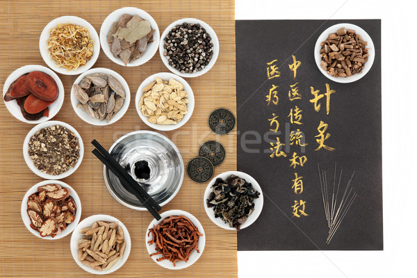 Acupuncture Traditional Chinese Medicine Stock photo © marilyna