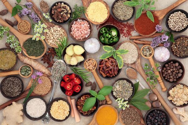 Gyógynövény fűszer étel öntet nagy gyűjtemény Stock fotó © marilyna