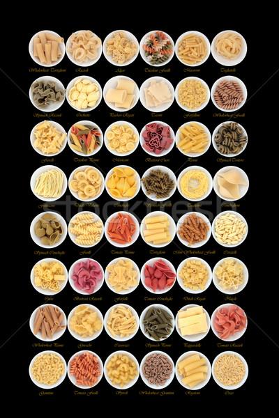 Italiano macarrão espaguete coleção grande secas Foto stock © marilyna