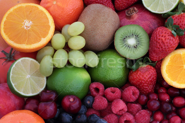 Fresh Fruit Super Food Background Stock photo © marilyna