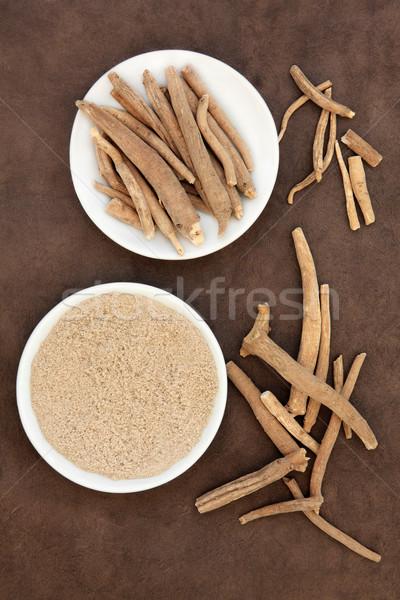 женьшень трава корень ручной работы продовольствие Сток-фото © marilyna