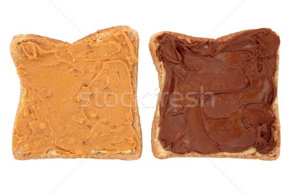 Burro di arachidi cioccolato due rosolare Foto d'archivio © marilyna
