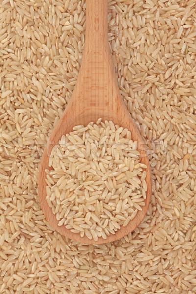 Barna rizs fakanál háttér kanál egészséges Stock fotó © marilyna