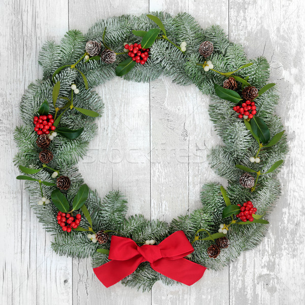 Traditional Christmas Wreath  Stock photo © marilyna