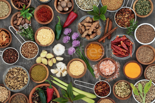 Herb and Spice Seasoning Selection Stock photo © marilyna