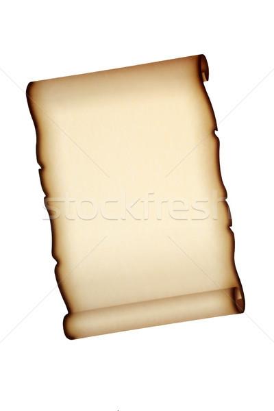 Pergamino papel desplazamiento aislado blanco carta Foto stock © marilyna