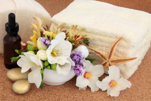 Foto d'archivio: Fiore · trattamento · termale · aromaterapia · spa · accessori · rosa
