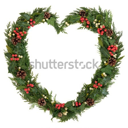 Christmas Heart Wreath Stock photo © marilyna