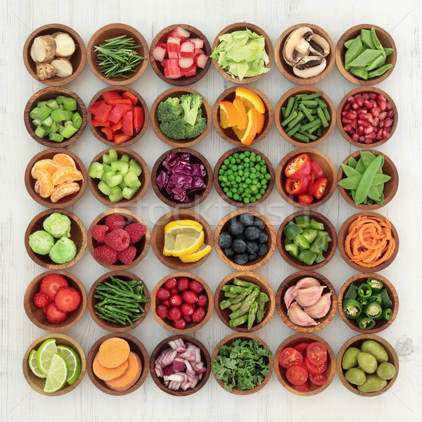 Diyet gıda süper sağlık meyve sebze Stok fotoğraf © marilyna