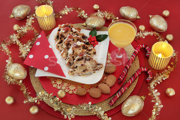 Delicious Christmas Food Stock photo © marilyna