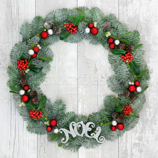 Christmas Noel Wreath Stock photo © marilyna