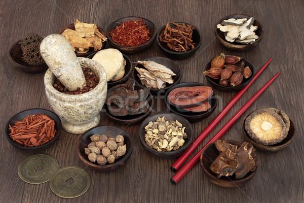 Çin otlar ot kullanılmış geleneksel Stok fotoğraf © marilyna