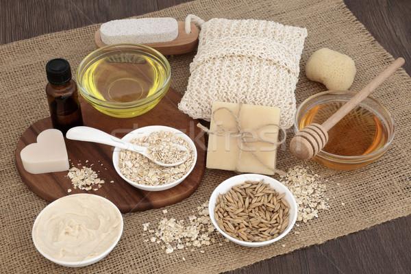 Naturale cura della pelle prodotti ingredienti pelle miele Foto d'archivio © marilyna