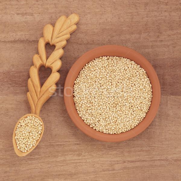 Grano ciotola papiro carta alimentare Foto d'archivio © marilyna